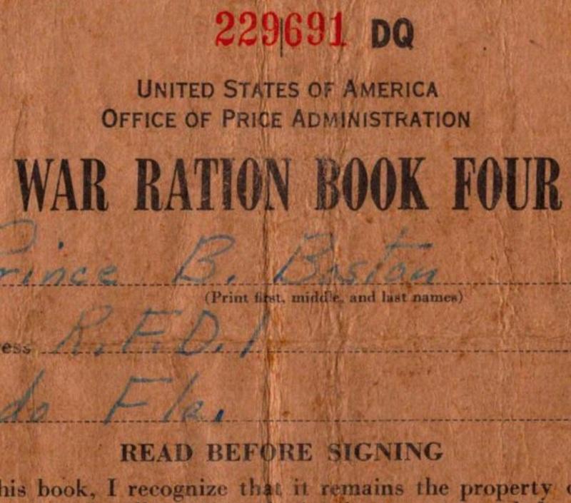 War Ration Book Four: Prince Butler Boston