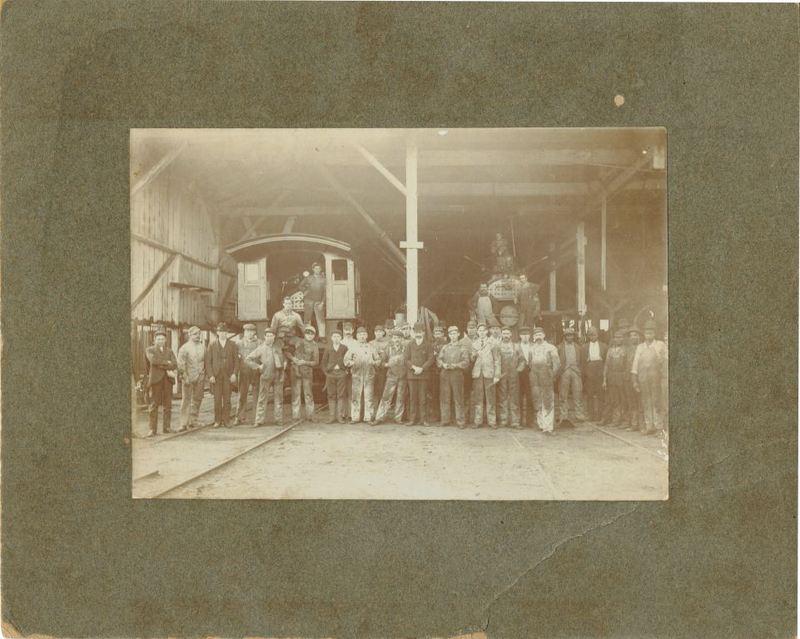 Atlantic Coast Line Workers at Sanford Railyard