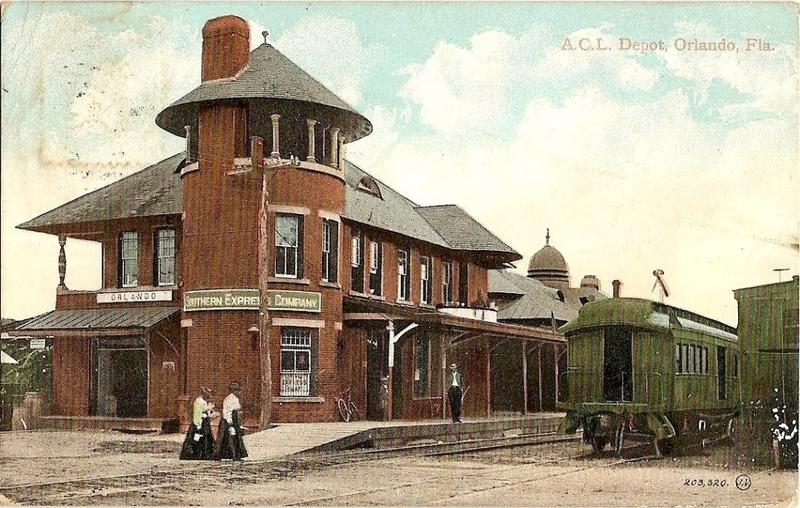 ACL Depot, Orlando, Fla. Postcard