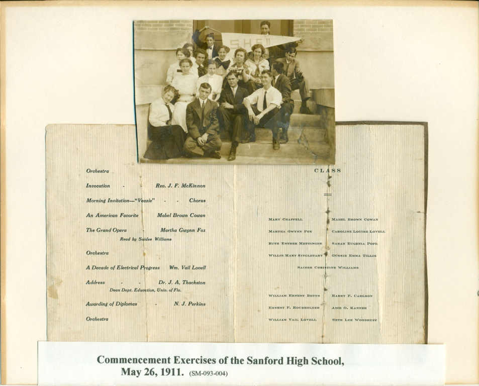 commencement at Sanford High School, 1911