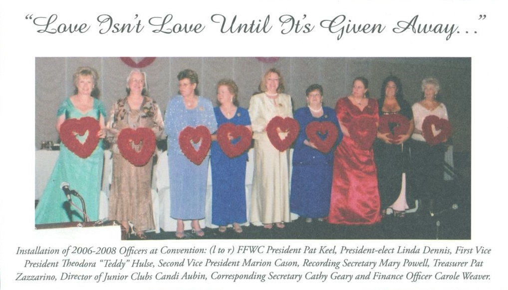 Florida Federation of Women's Clubs' Officers, 2006-2008