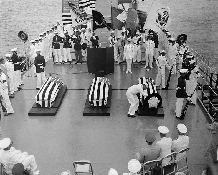 World War II Unknown Soldier Selection Ceremony, USS Canberra - May 26, 1958