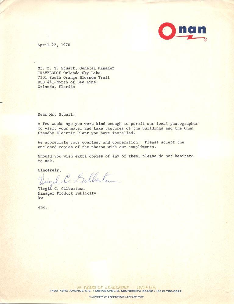 letter from virgil c  gilbertson to z  t  stuart  april 22