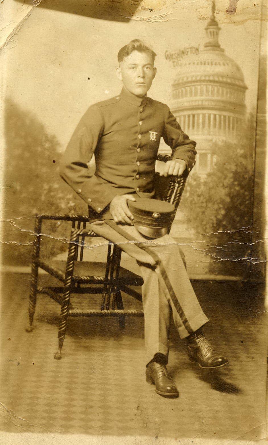 Pilcher in Uniform