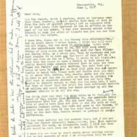 Letter from Myrtle Colson to John M. May (June 1, 1958)