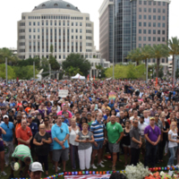 Crowd at Vigil for Pulse
