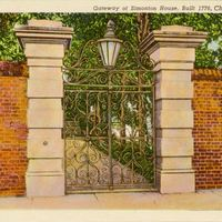 Gateway of Simonton House Postcard