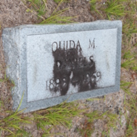 Headstone of Ouida M. Daniels at Viking Cemetery