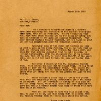 Letter from Joshua Coffin Chase to Sydney Octavius Chase (March 30, 1922)