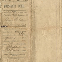 Warranty Deed for George W. Oden (January 6, 1903)