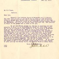 Letter from Joshua Coffin Chase to Sydney Octavius Chase (January 23, 1911)