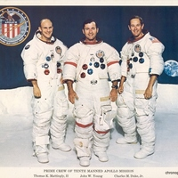 Prime Crew of the Tenth Manned Apollo Mission