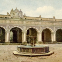 Patio de la Universidad-Antigua, Guatemala Postcard