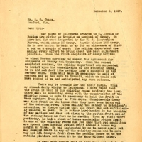 Letter from Joshua Coffin Chase to Sydney Octavius Chasee (December 8, 1927)