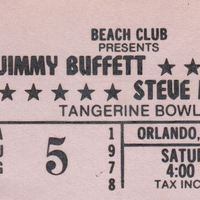 Jimmy Buffett and Steve Miller Ticket Stub