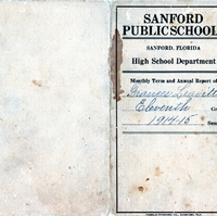 Sanford High School Report Card, 1914-1915
