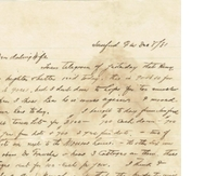 Letter from Henry L. DeForest to Anna M. Sperry DeForest (December 8, 1881)