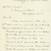 Letter from A. W. Macfarlane to Henry Shelton Sanford (December 9, 1886)