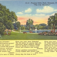 Tropical Eola Park Postcard