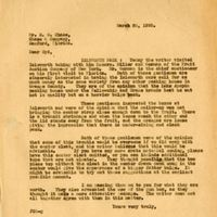 Letter from Joshua Coffin Chase to Sydney Octavius Chase (March 26, 1926)
