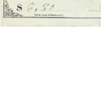 Personal Check from Edwin G. Eastman to G. W. Twain (June 8, 1871)