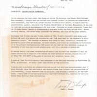 Letter from Gary I. Sharp to the West Orange Chamber of Commerce (May 19, 1977)