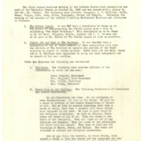 Minutes of Monthly Meeting, October 30, 1958