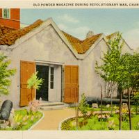 Old Powder Magazine During Revolutionary War Postcard