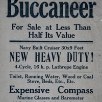The Buccaneer Advertisement