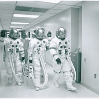 Apollo 14 Crew in the Manned Spacecraft Operations Building at John F. Kennedy Space Center