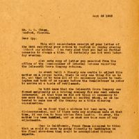 Letter from Joshua Coffin Chase to Sydney Octavius Chase (September 25, 1923)