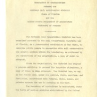 Memorandum of Understanding between the Seminole Soil and Water Conservation District and the United States Department of Agriculture, 1948