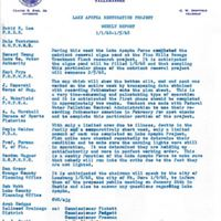 Lake Apopka Restoration Project Weekly Report (January 1 to 5, 1968)