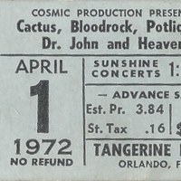 Cactus, Bloodrock, Potliquor, Dr. John, and Heaven Ticket Stub