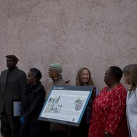 Georgetown Heritage Advisory Committee at the Sanford Avenue Streetscape Completion and Unveiling of Heritage Marker Ceremony
