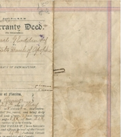Warranty Deed for State Bank of Apopka (May 20, 1921)