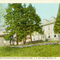 Sally Ann Furnace Manor House and Furnace Store Postcard