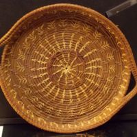 Pine Needle Basket Weaved by a Geneva Resident