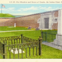 Fort Moultrie and Grave of Oceola, the Indian Chief Postcard