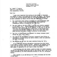 "Letter from Harold L. Moody to James ""Jim"" P. Clugston (December 17, 1962)"