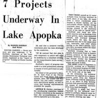7 Projects Underway in Lake Apopka