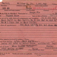 Abstract of Military Service for William Snow Taylor Jr.