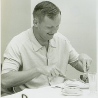 Apollo 11 Astronaut Neil Armstrong at Pre-Launch Breakfast