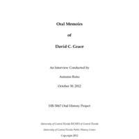 Oral History of David C. Grace