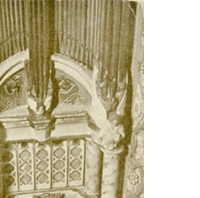 Great Organ in the Chapel of Colleen Moore's Dollhouse Postcard