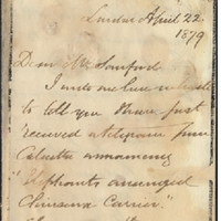 Letter from William MacKinnon to Henry Shelton Sanford (April 22, 1879)