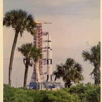 Apollo 8 Awaiting Liftoff at John F. Kennedy Space Center Launch Complex 39A