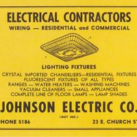 Johnson Electric Company Advertisement
