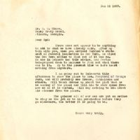 Letter from Joshua Coffin Chase to Sydney Octavius Chase (January 22, 1927)