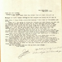 Letter from John May to Joe and Martha Seltzer (February 25, 1962)